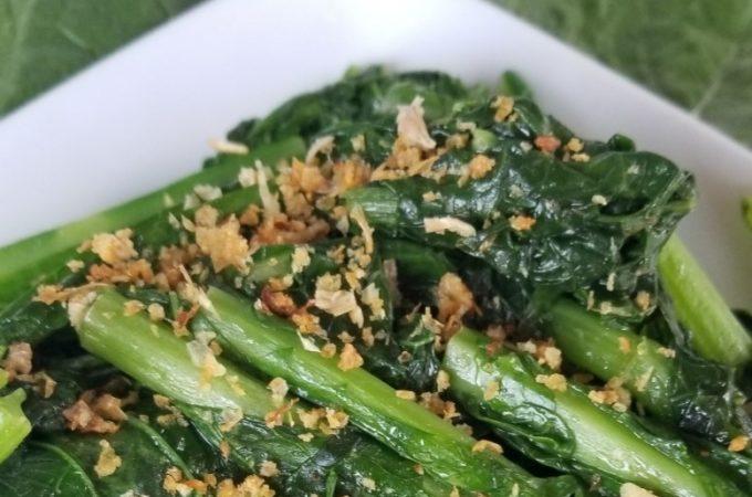 Stir-fried mustard greens
