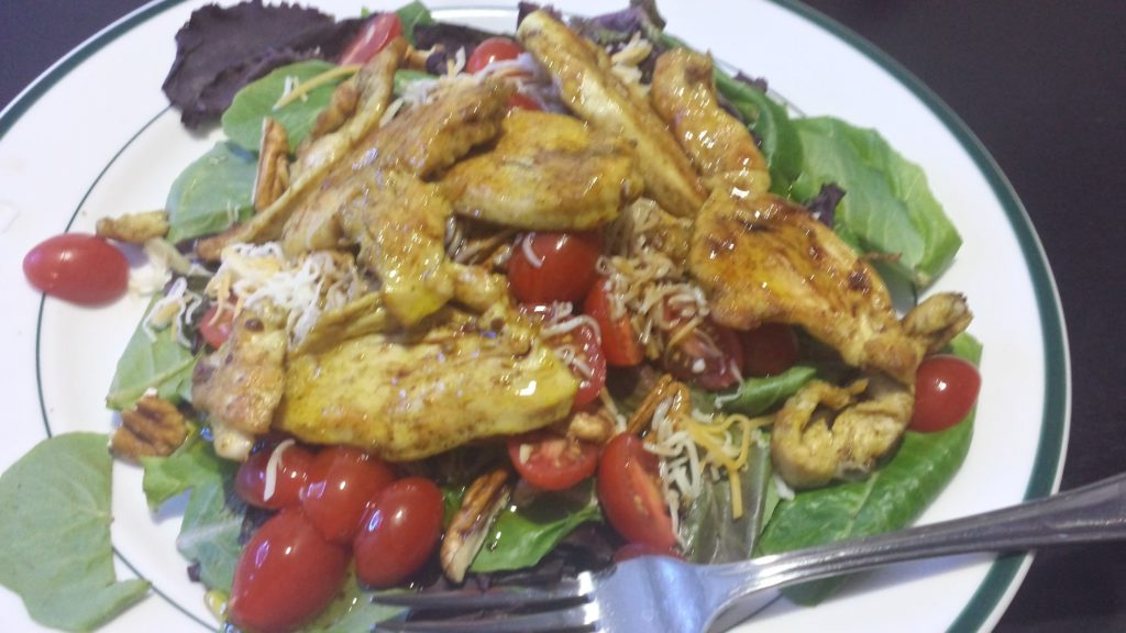 Yellow Curry Chicken Thai Fusion Salad