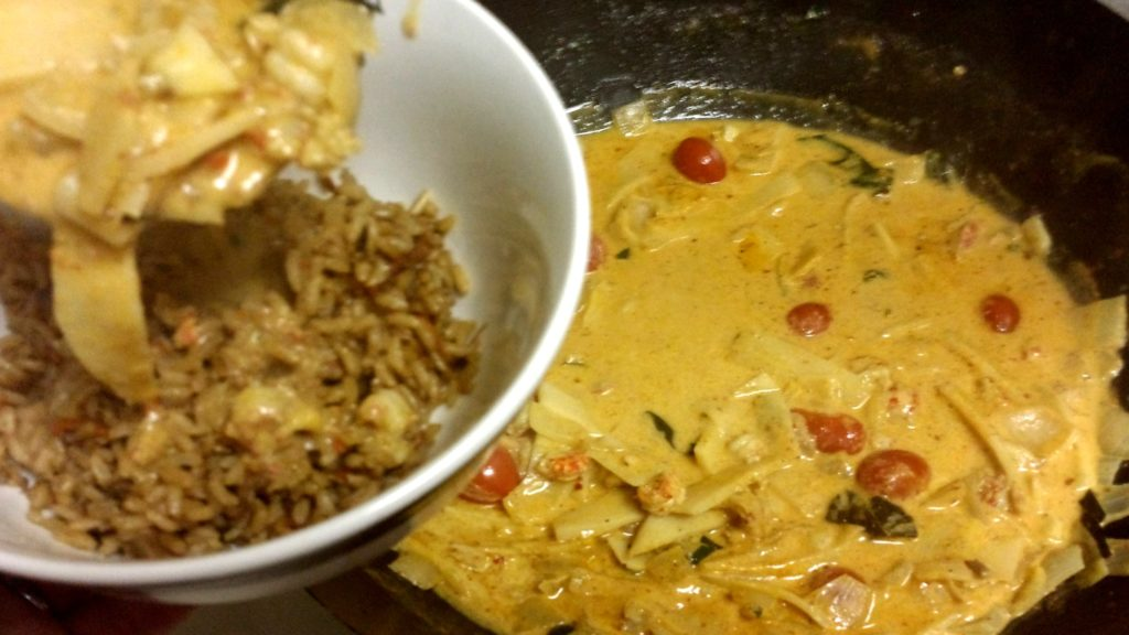 Adam's Cray Cray Crayfish Coconut Curry, (Thai Style) Over Rice