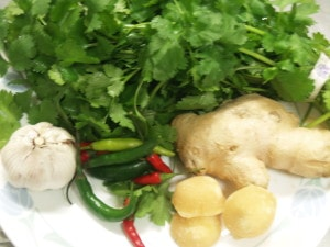 Thai Spicy Green Dipping Sauce Ingredients