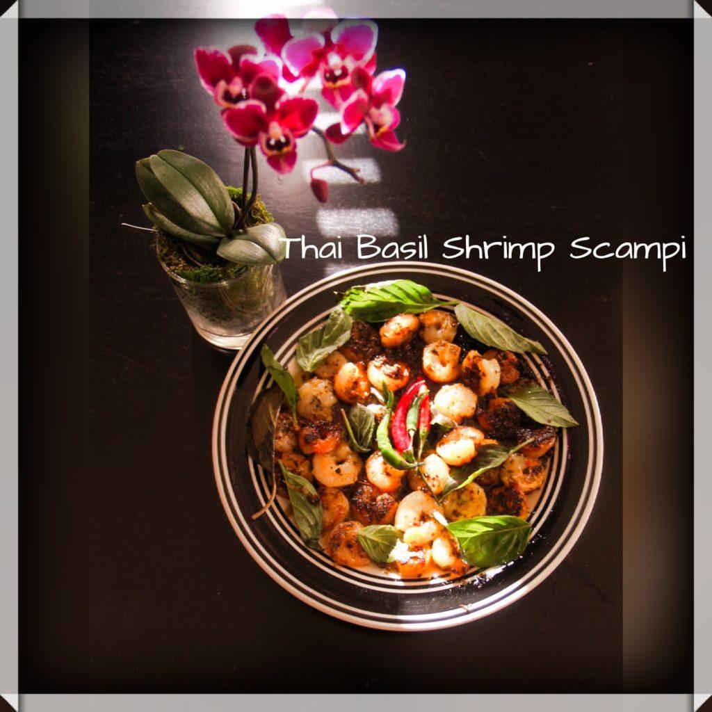 Helthier Thai Basil Shrimp Scampi