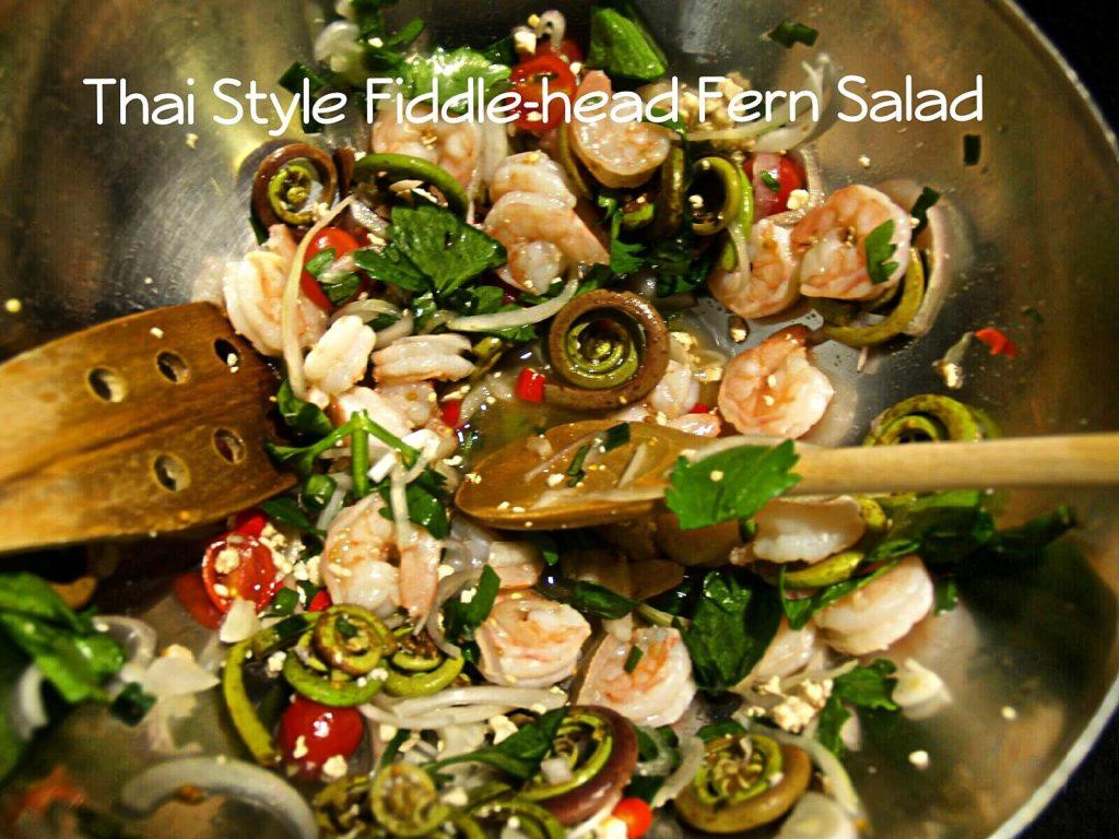 Thai Style Fiddle-Head Fern Salad