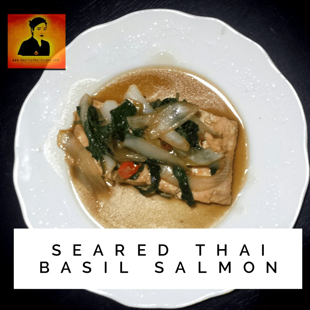 Seared Thai Basil Salmon Sauce