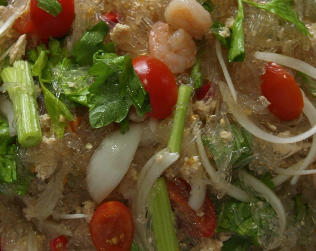 Close Up Thai Glass Noodles Salad-min