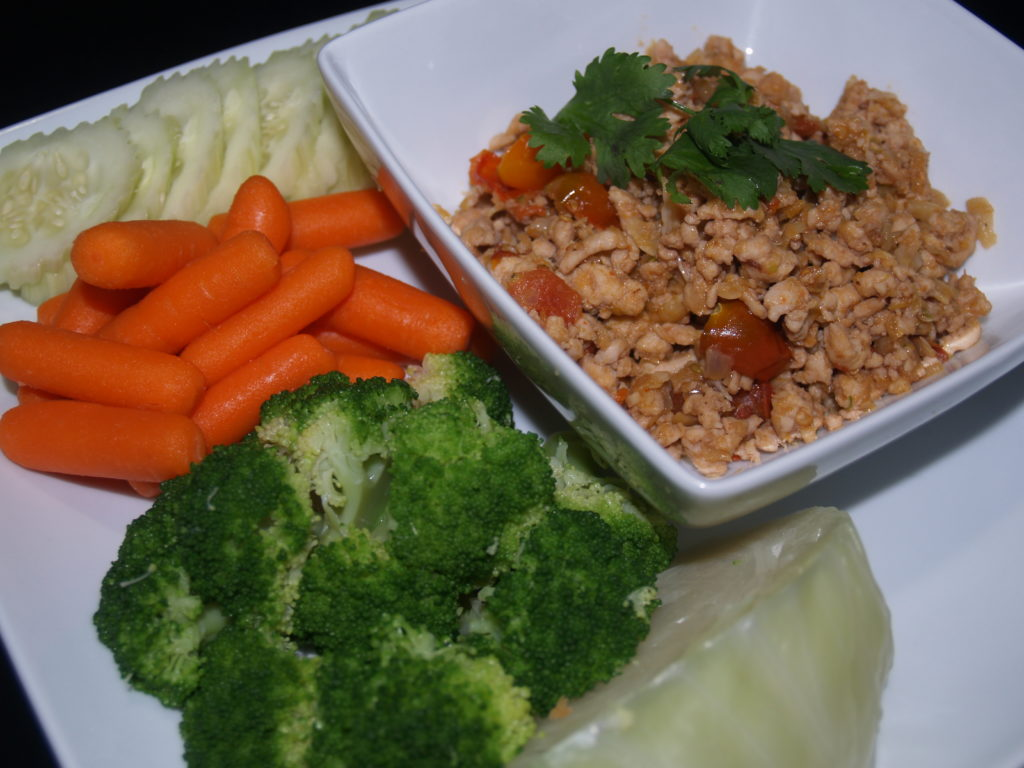 Thai Herb Turkey Served with Vegetables