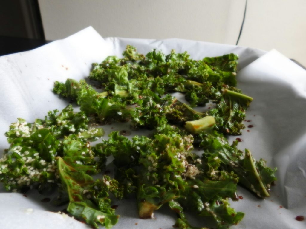 Kale on Cookie Sheet
