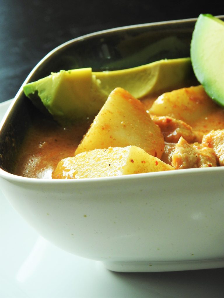 Masaman Curry Chicken with Avocado