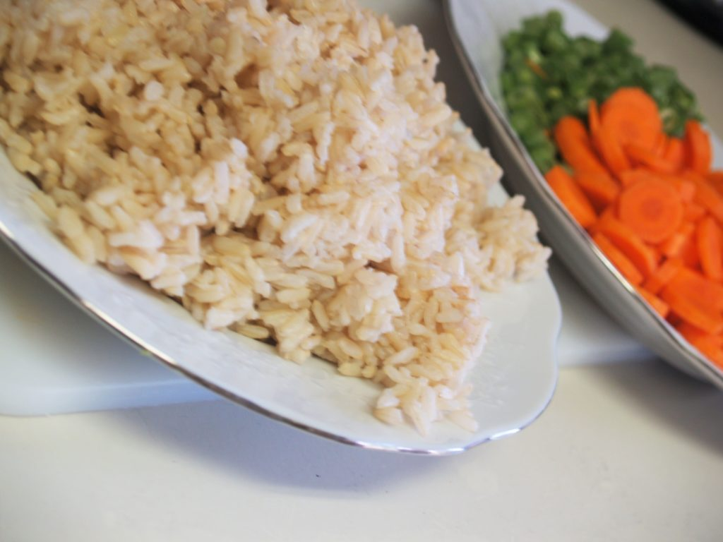 Brown Rice, Carrots, Green Beans