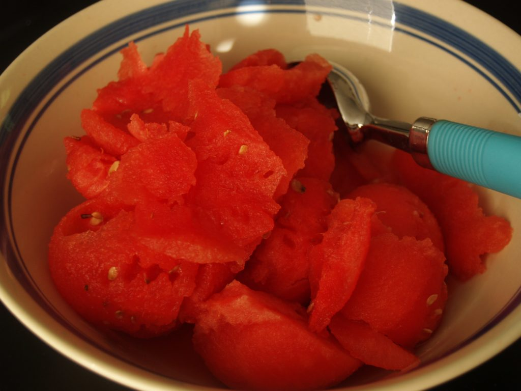 Watermelon Meat in a Bowl