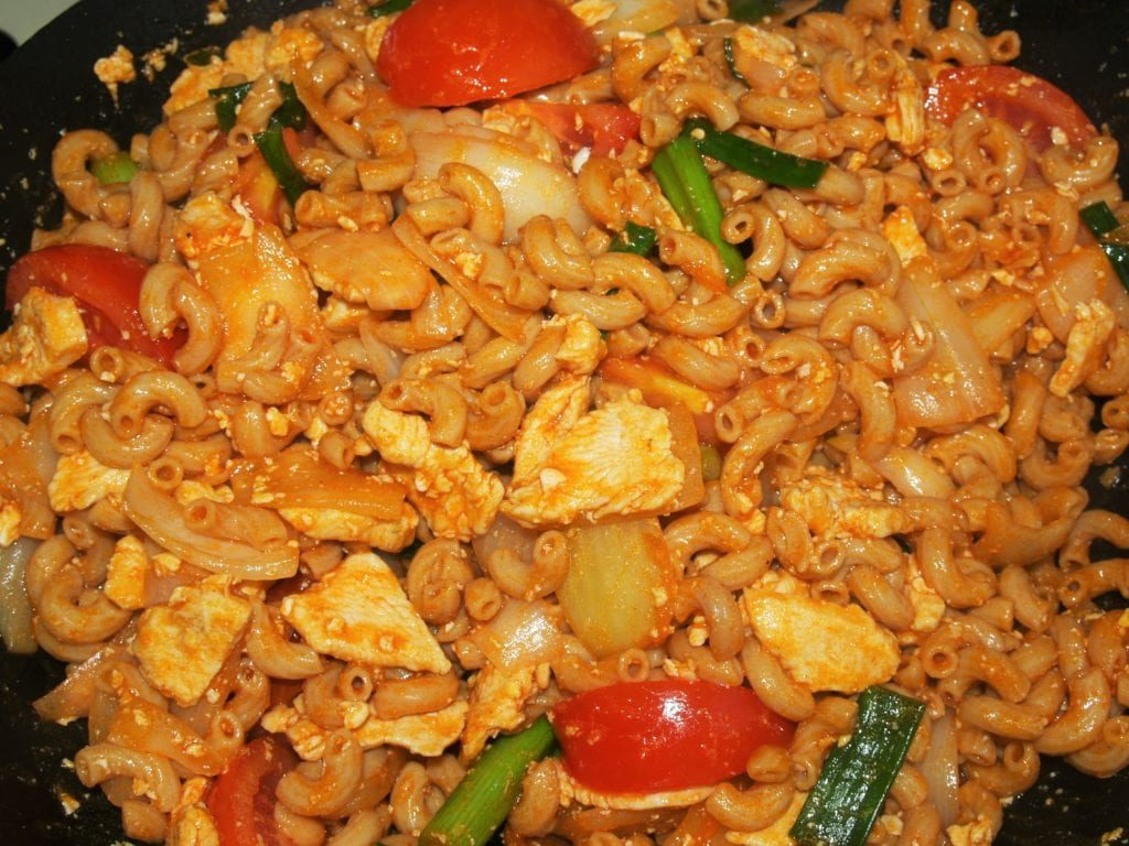 Stir Fried Macaroni with Chicken