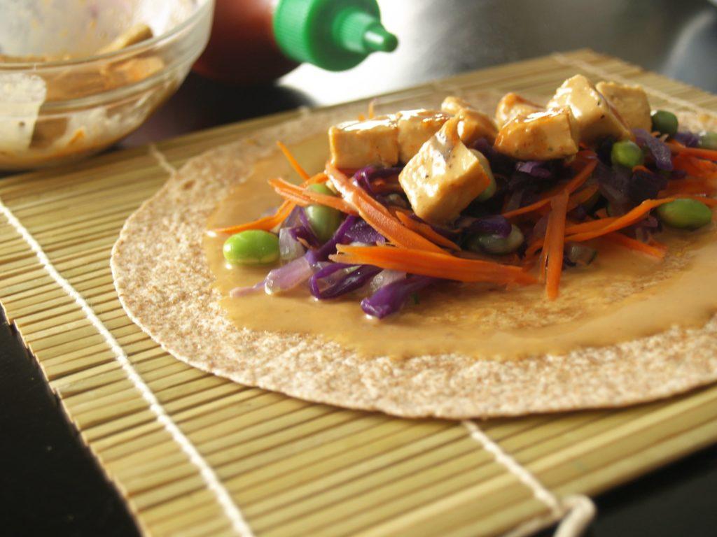 Thai Peanut Chicken Snack Wrap