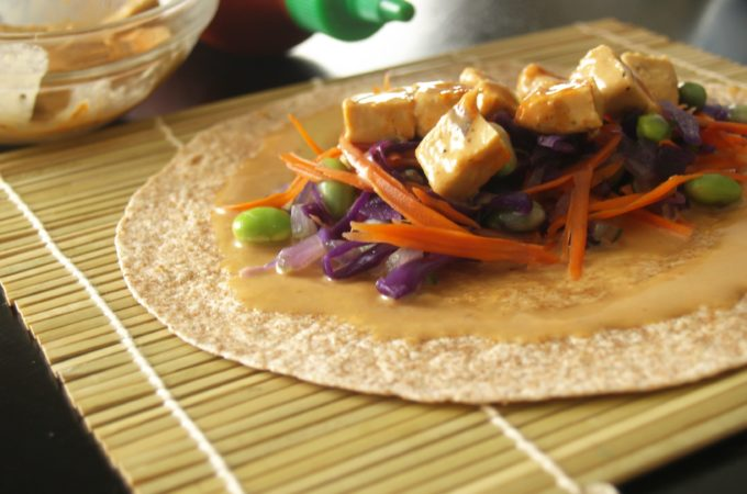 Thai Peanut Chicken Snack Wrap