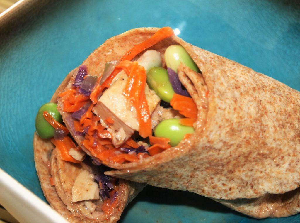 Thai Peanut Chicken Whole Wheat Chicken Snack Wrap