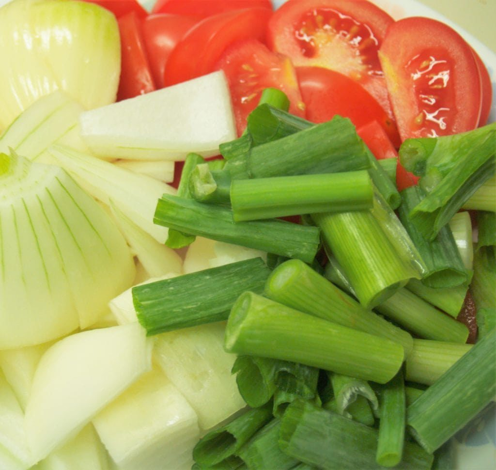 Vegetables for Stir Fried Macaroni