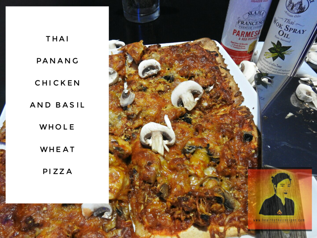Thai Panang Basil Chicken Pizza