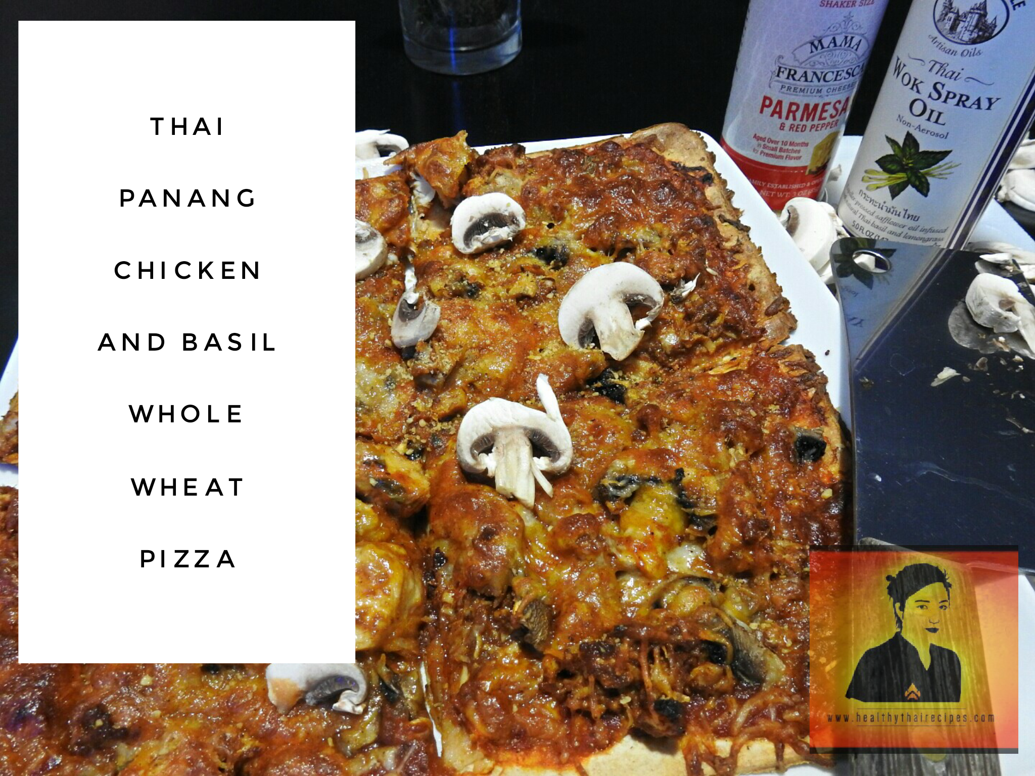 Thai Panang Basil Chicken Pizza on a Whole Wheat Crust ...