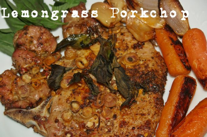 Thai Lemongrass Roasted Pork Chop