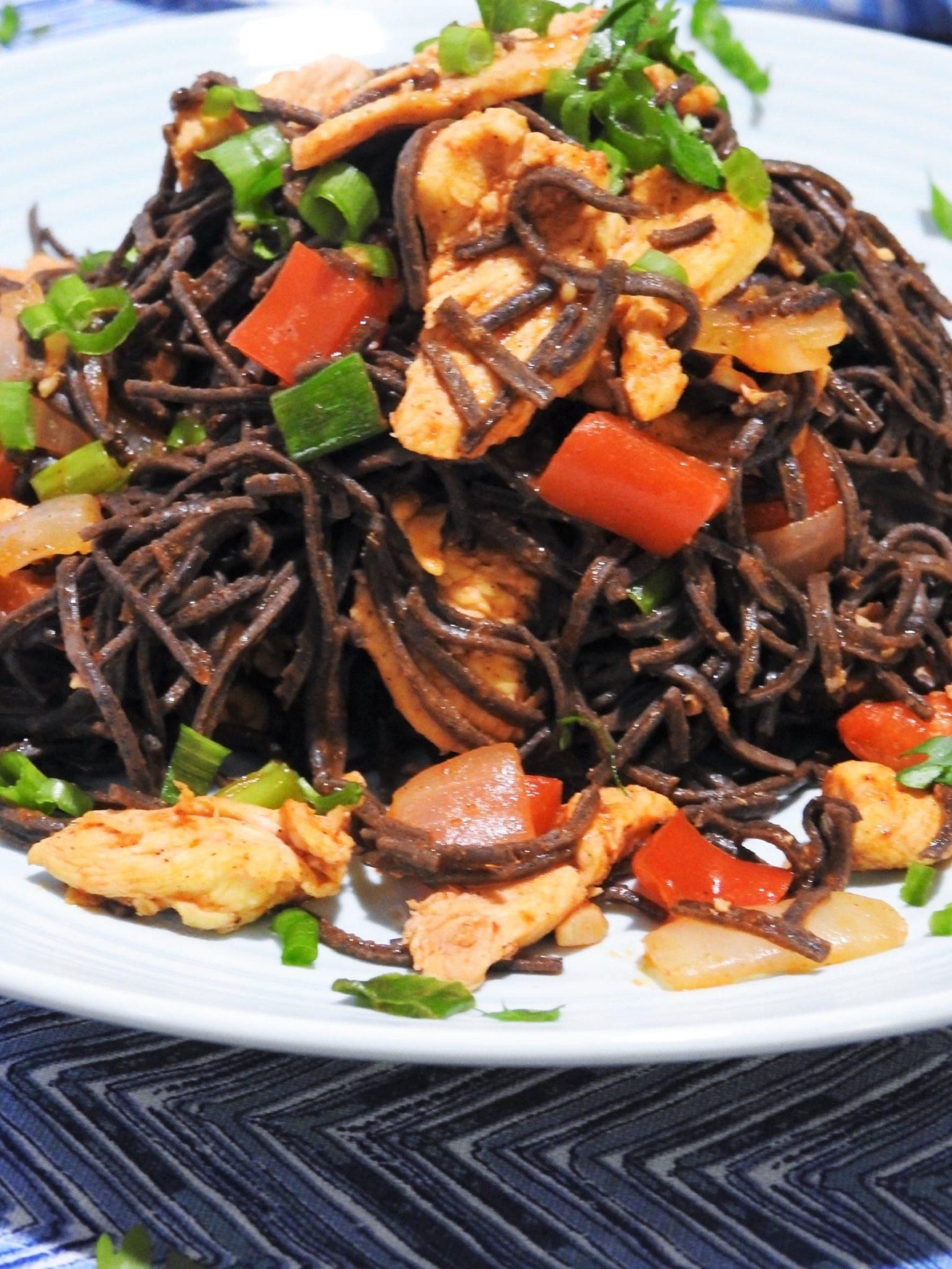Sriracha Black Bean Spaghetti