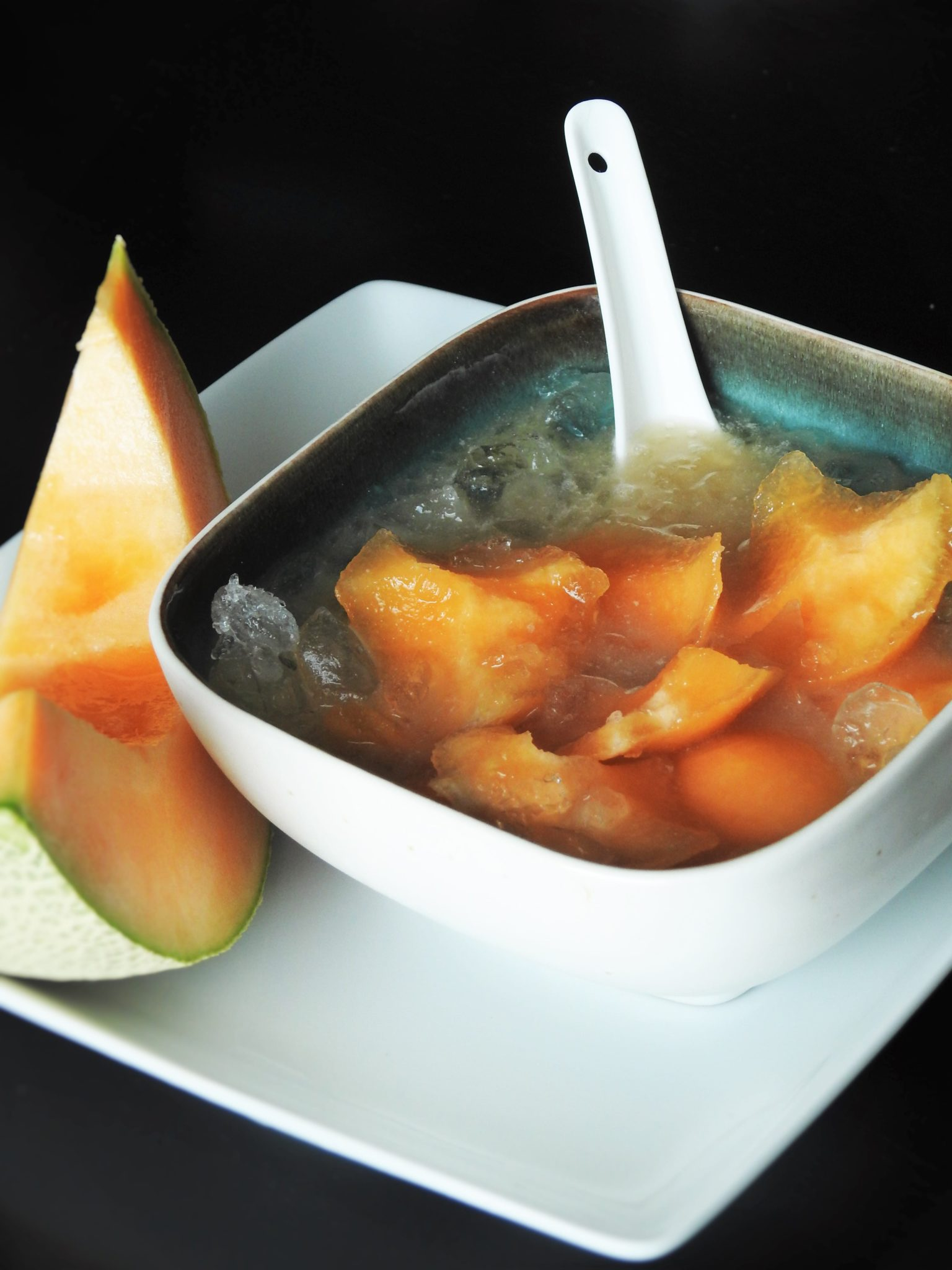 Cantaloupe with Sweet Coconut Milk