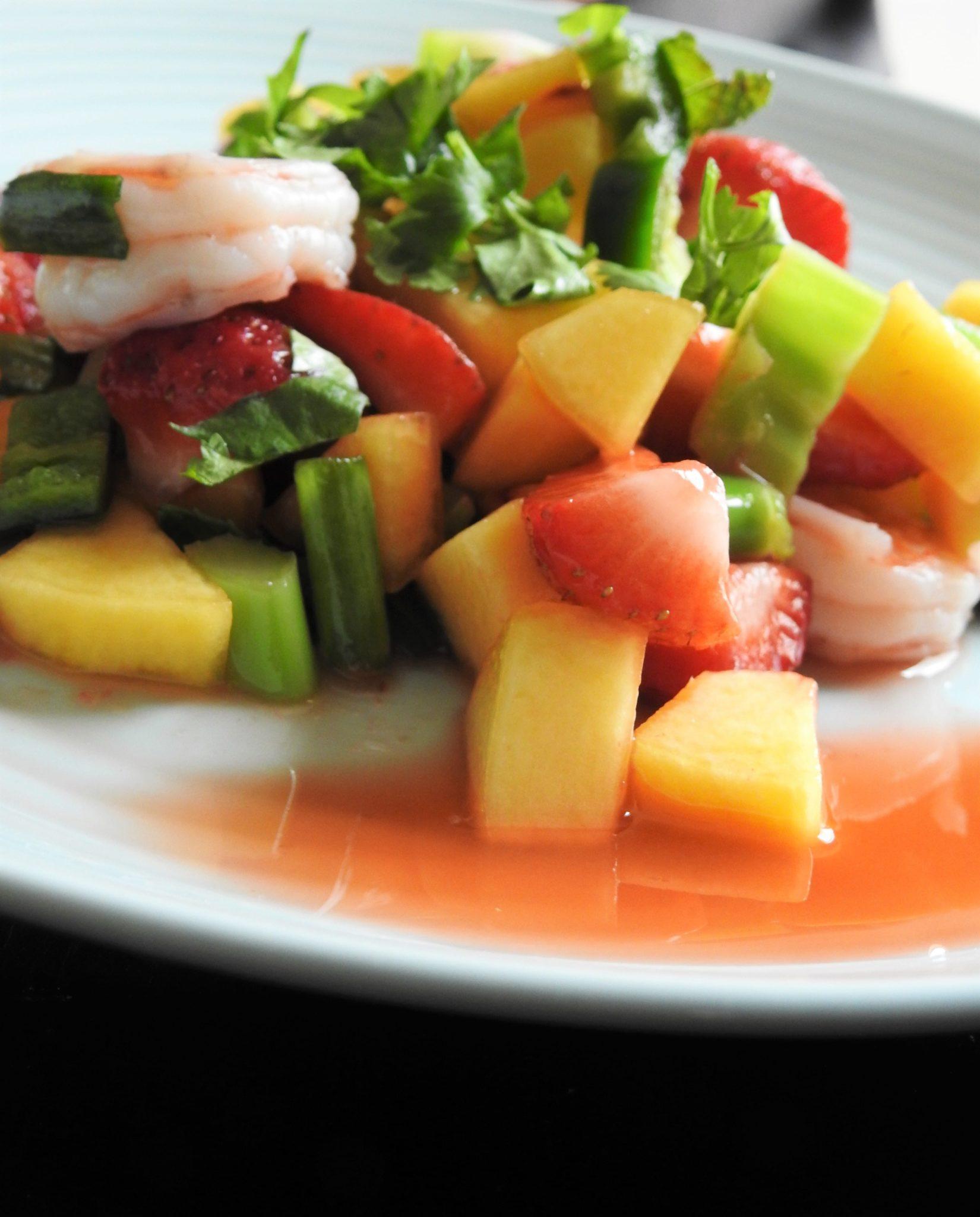Strawberry Peach Shrimp Thai SaladStrawberry Peach Shrimp Thai Salad