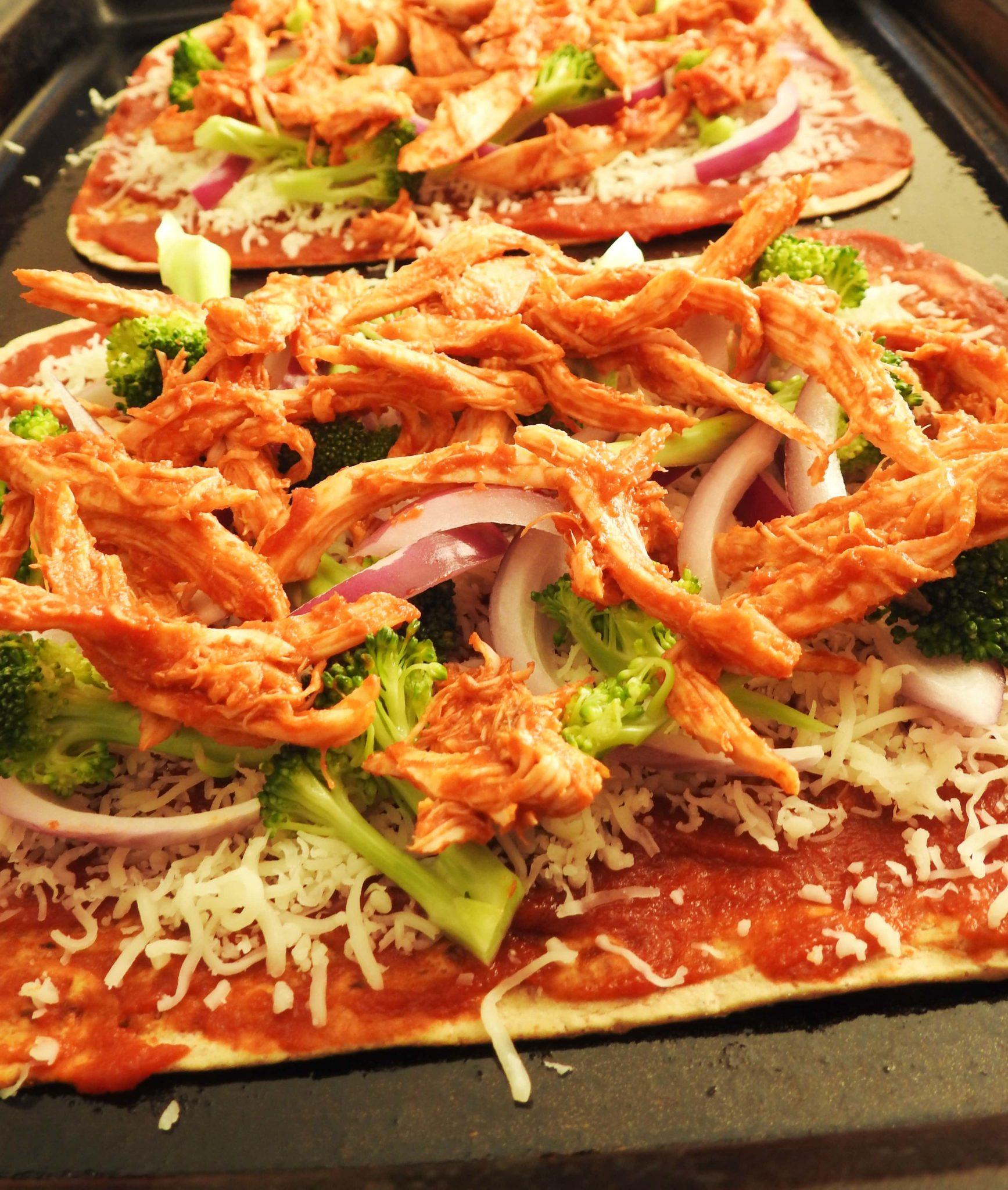 Shredded Chicken Sriracha Flatbread