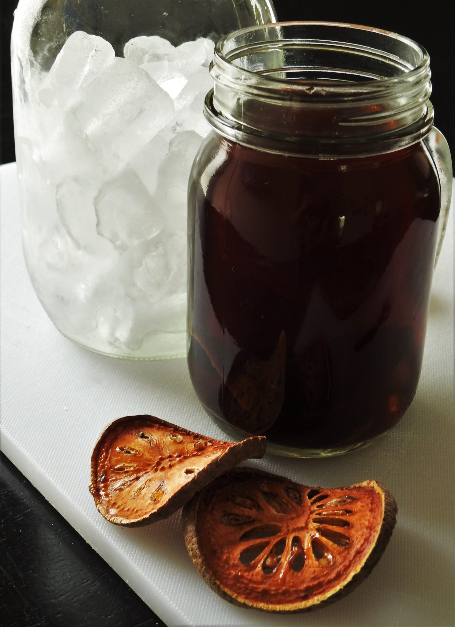 Preparing for Cold Bael Drink