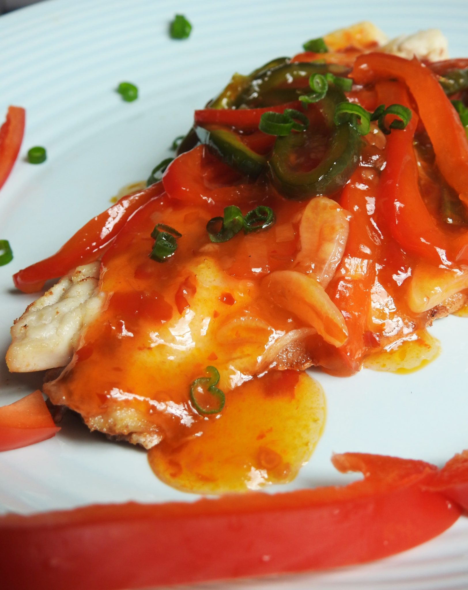 Striped Bass with Thai Chili Sauce