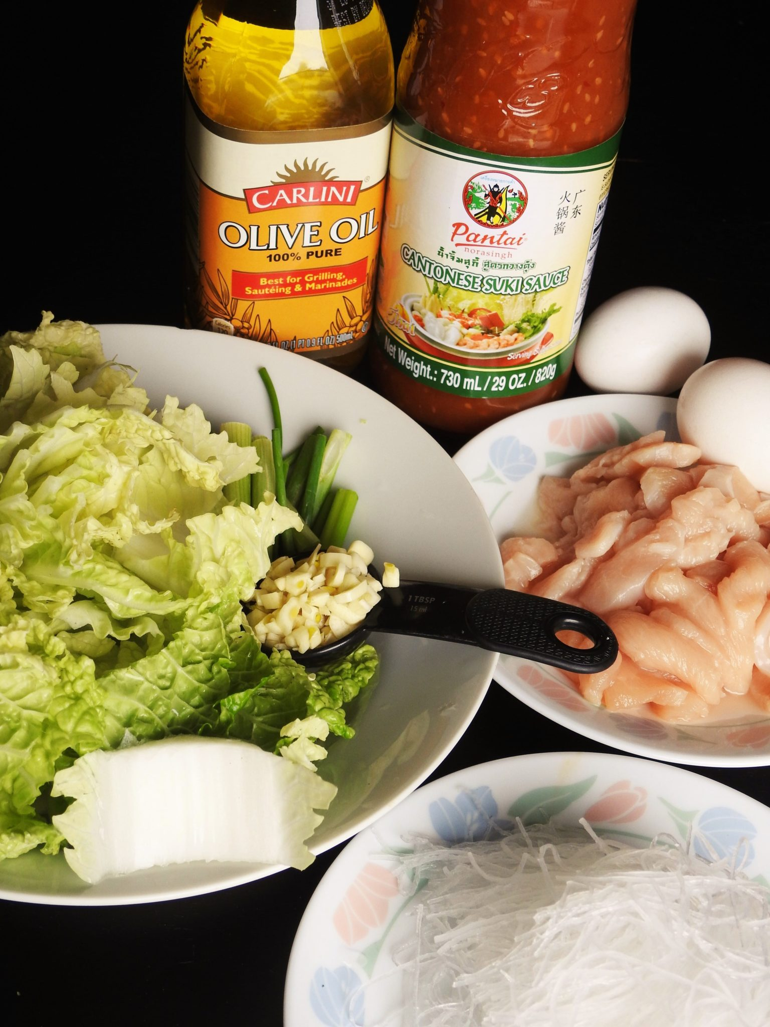 Stir Fried Sukiyaki Chicken Ingredients