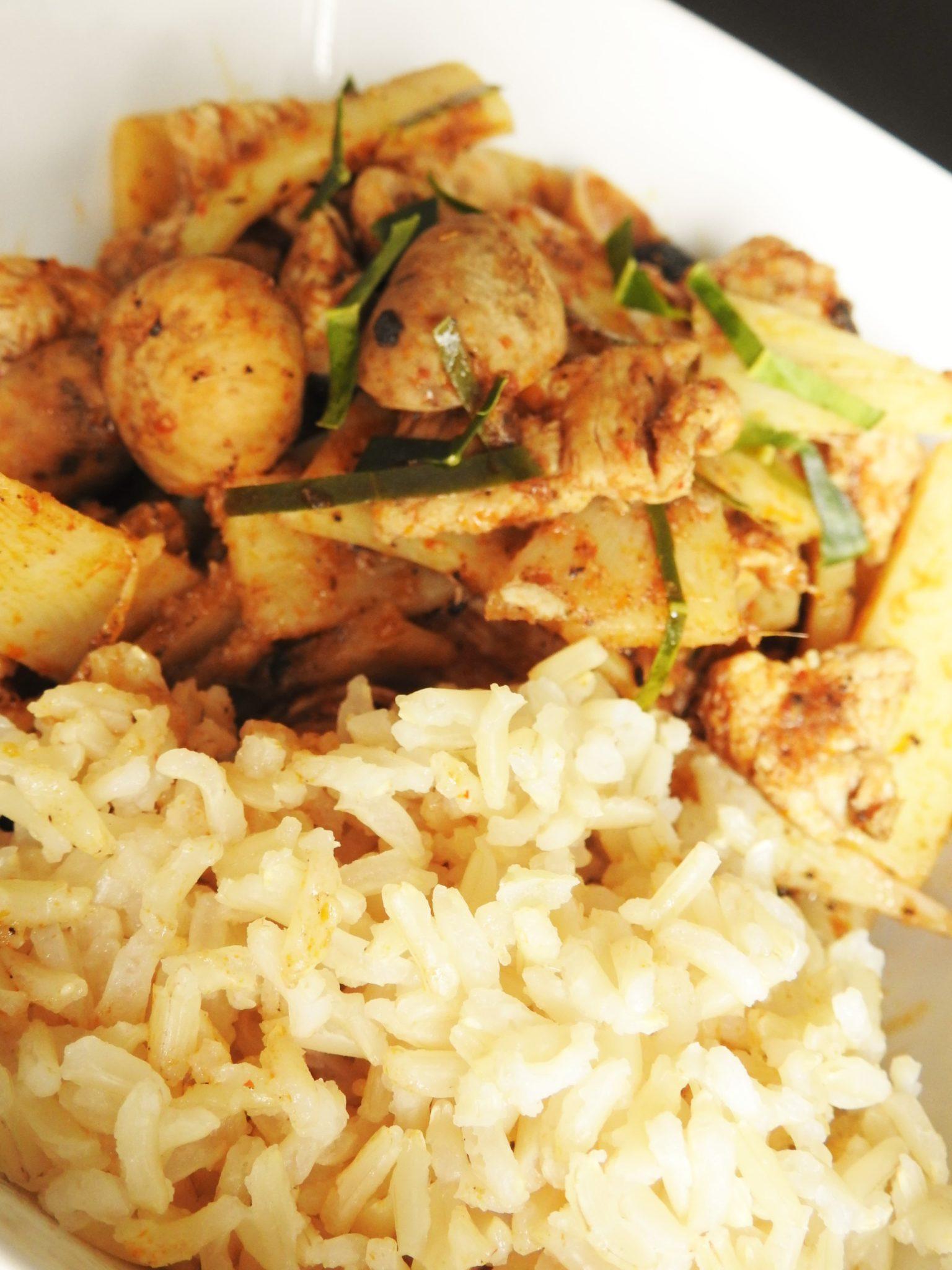 Spicy Thai Puffball Mushroom with Pork