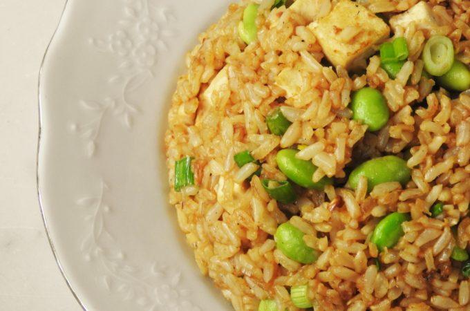 Garlic Fried Rice Tofu