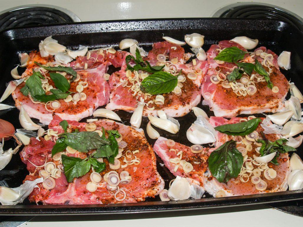Thai Lemongrass Roasted Pork Chop