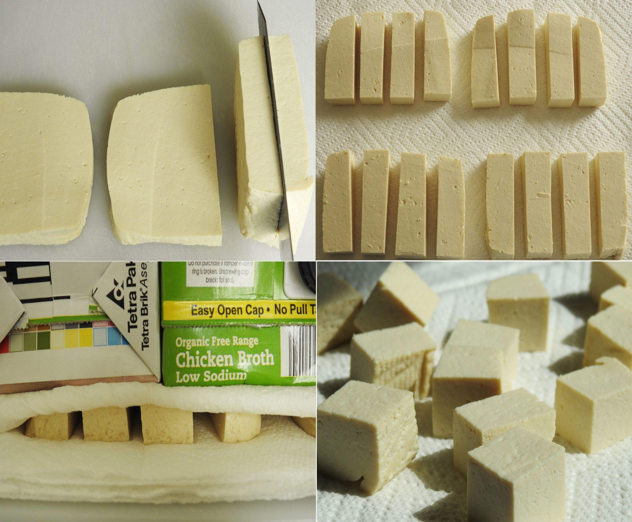 Preparing Tofu Snack