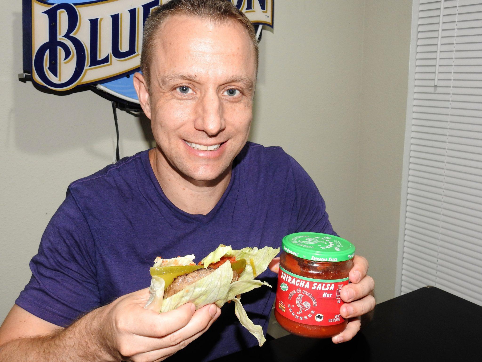 bold n spicy sriracha salsa burger