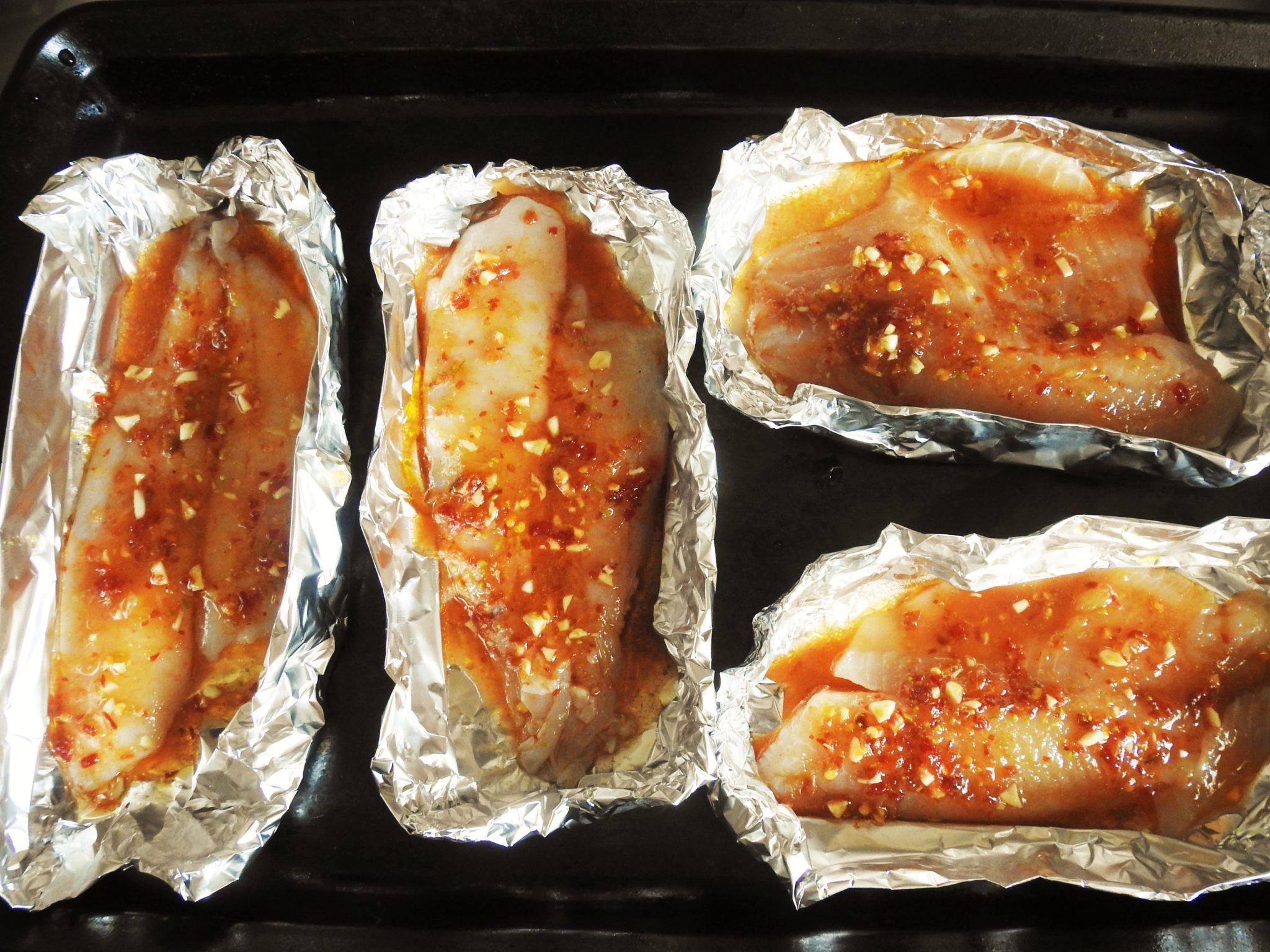 Fish Fillets Soaked in The Chili Lime Sauce