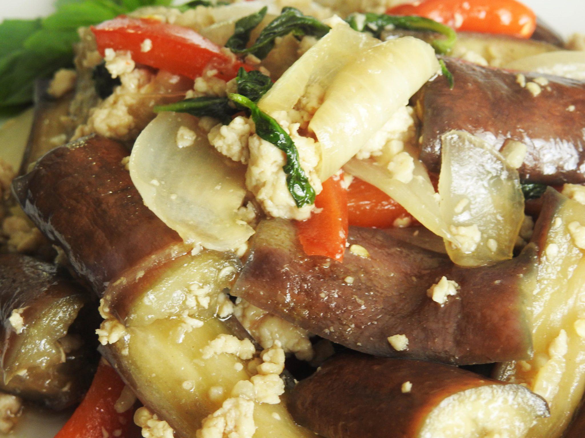 Eggplant Thai Basil Sauce