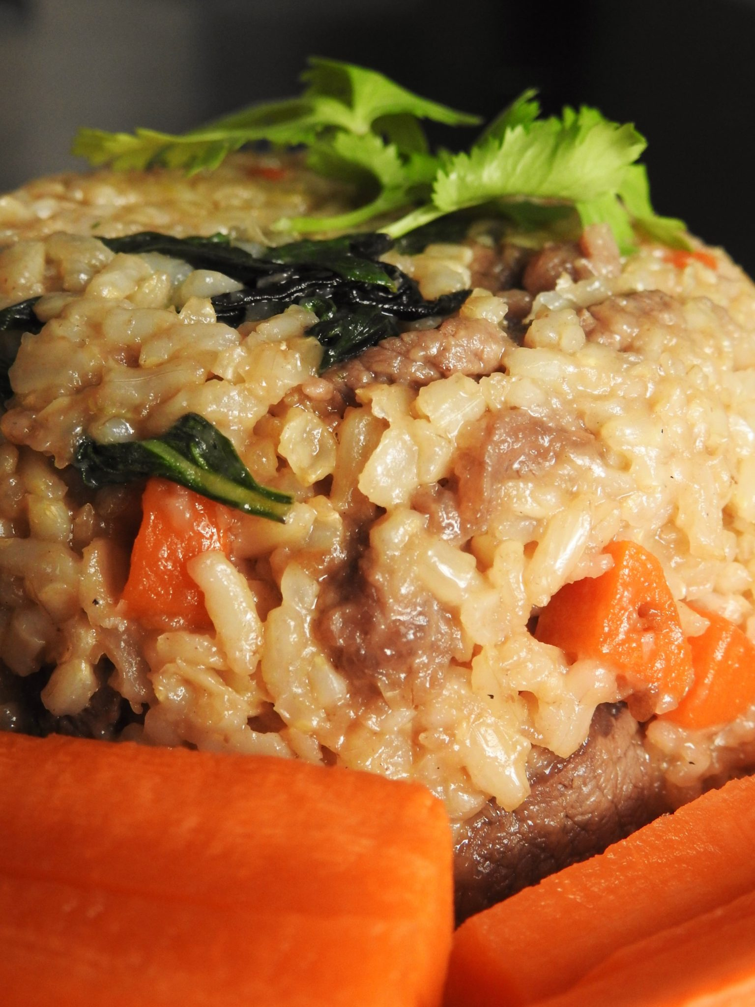 Basil Fried Brown Rice With Beef - Healthy Thai Recipes