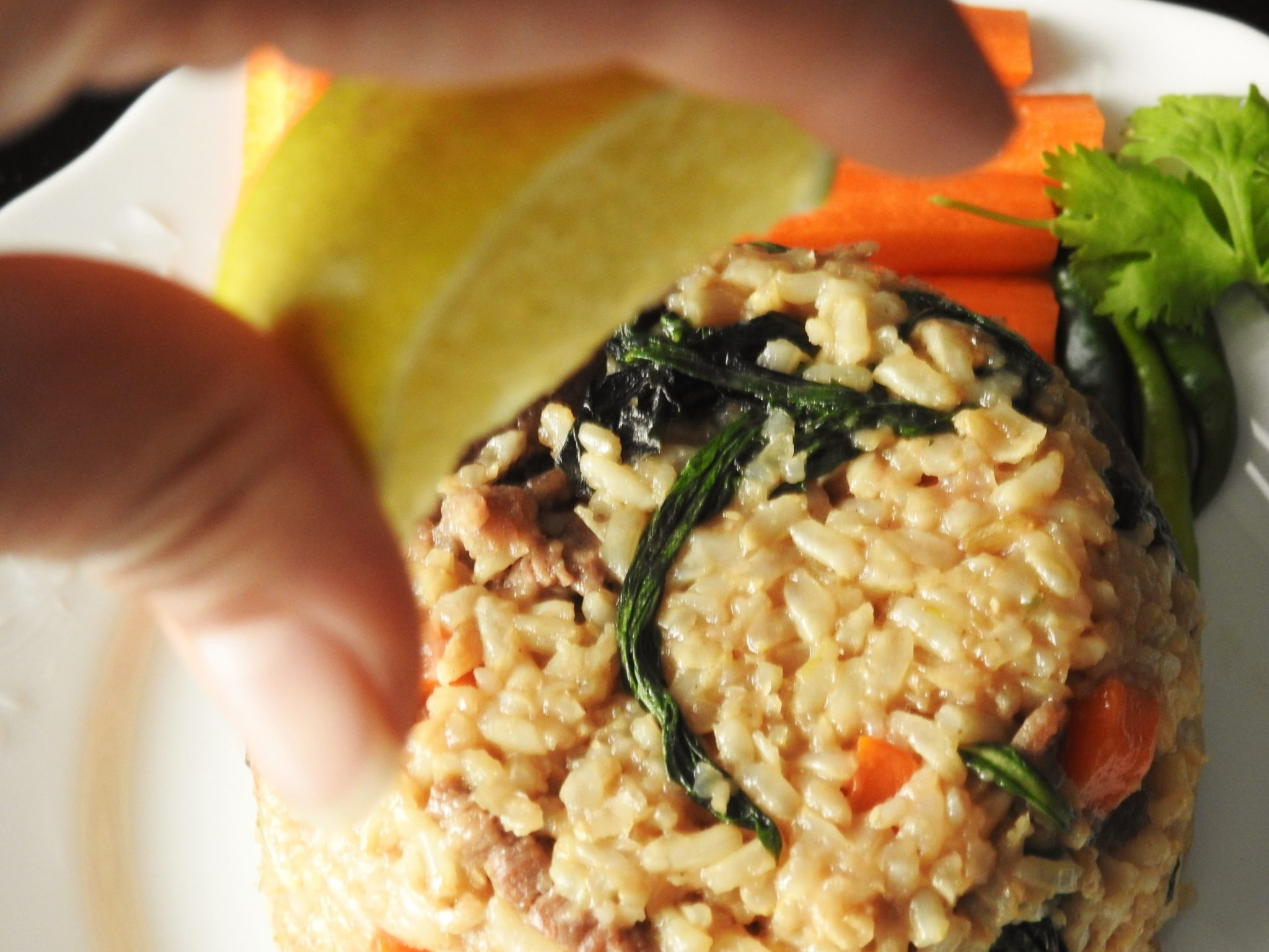 Basil Fried Brown Rice Beef
