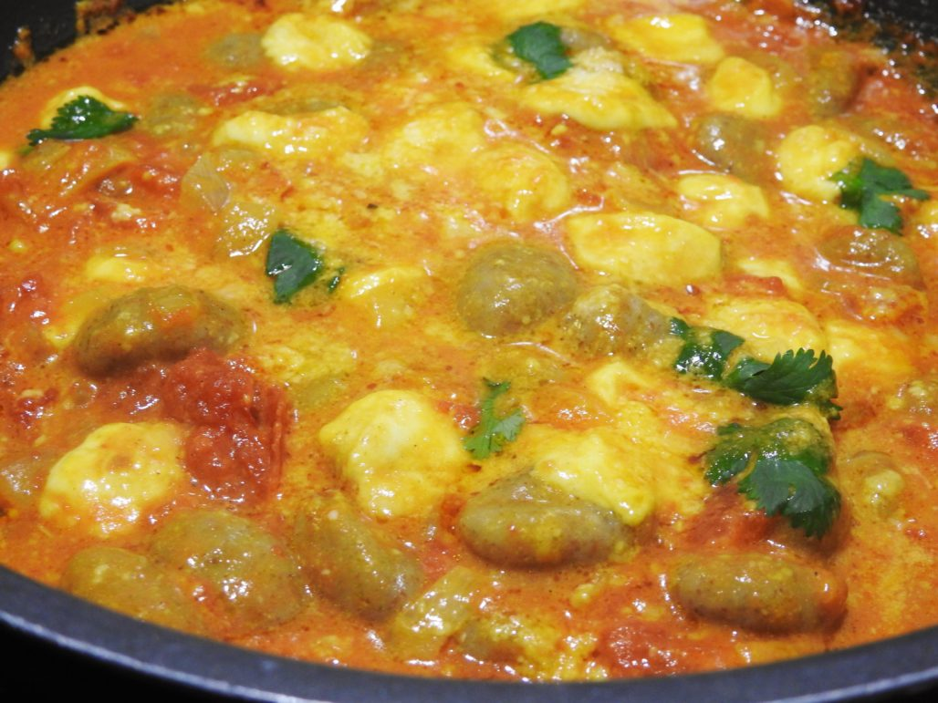 Gnocchi with Thai Tomato-Curry Sauce