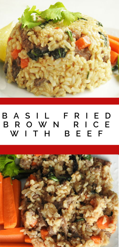 Basil Fried Brown Rice With Beef Healthy Thai Recipes