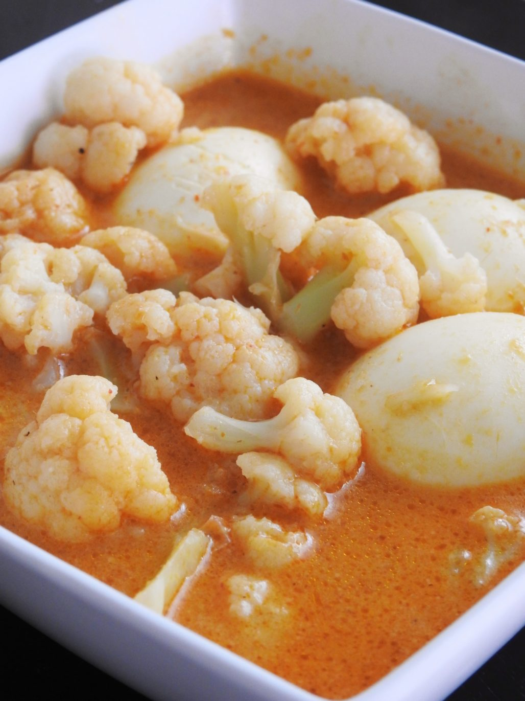 Cauliflower & Hard Boiled Eggs Thai Red Curry