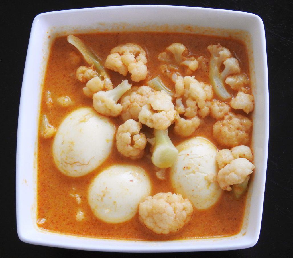 Cauliflower & Hard Boiled Eggs Thai Red Curry