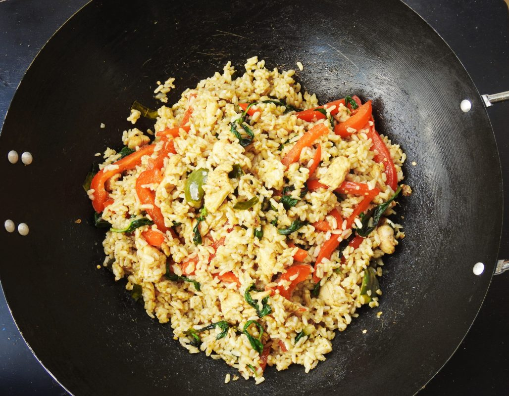 Green Curry Fried Brown Rice