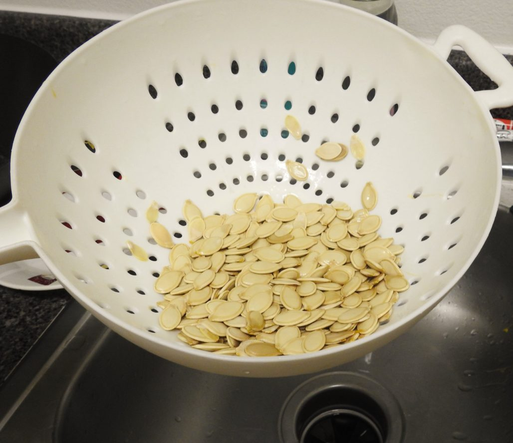 Strained Pumpkin Seeds