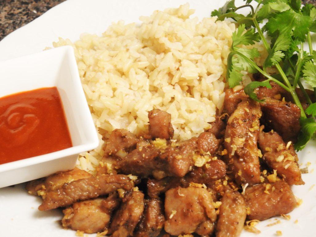 Thai black pepper garlic pork healthy thai recipes thai pepper garlic pork forumfinder Choice Image