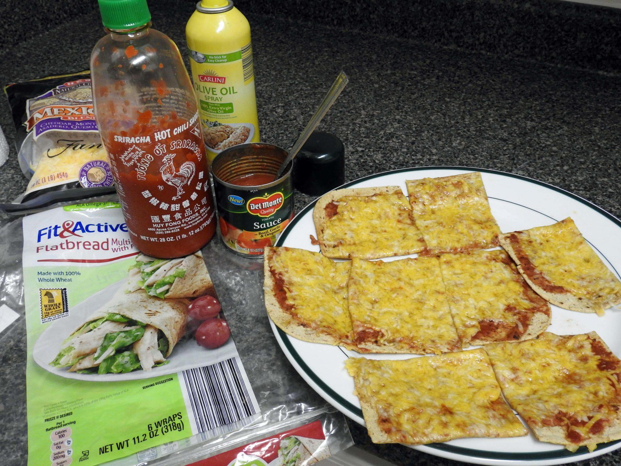 5 Ingredient Low Glycemic Sriracha Flatbread - Healthy Thai Recipes