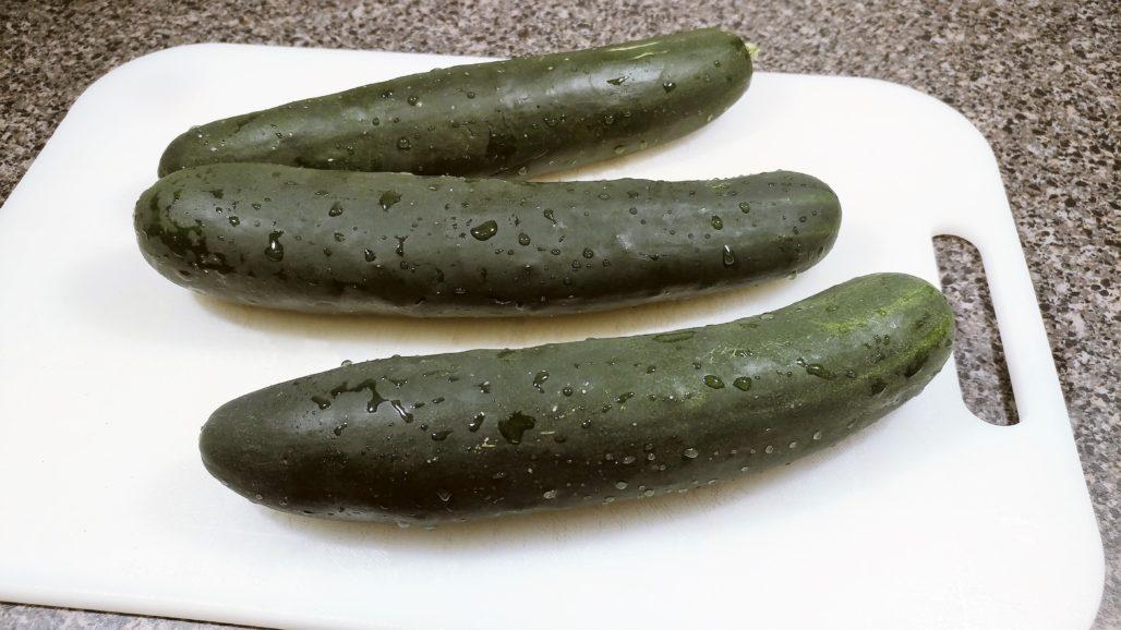 3 medium cucumbers