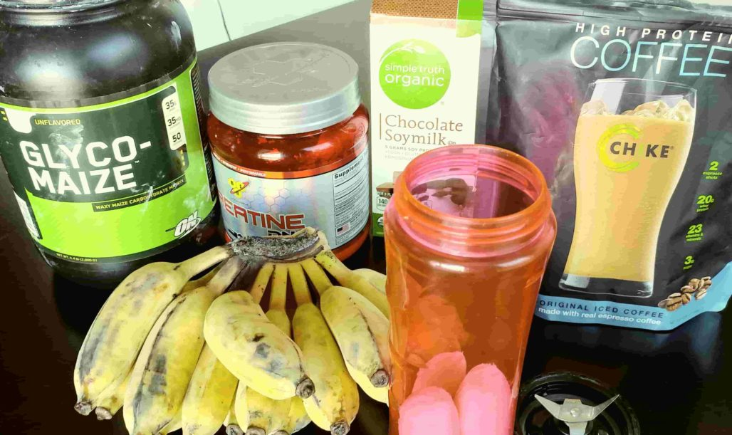 Thai Banana Protein Smoothie Ingredients