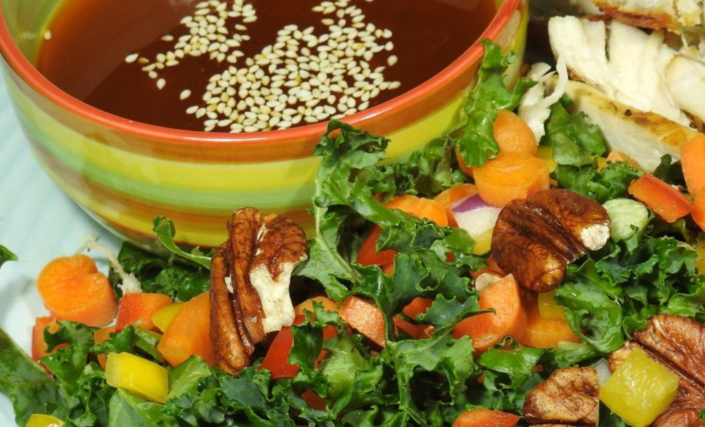 Chopped Kale Salad With Sriracha Olive Oil Dressing