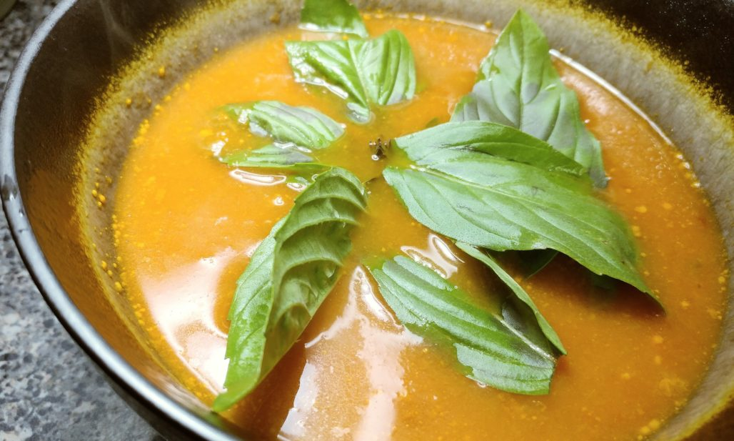 Tomato Soup with Thai Spices