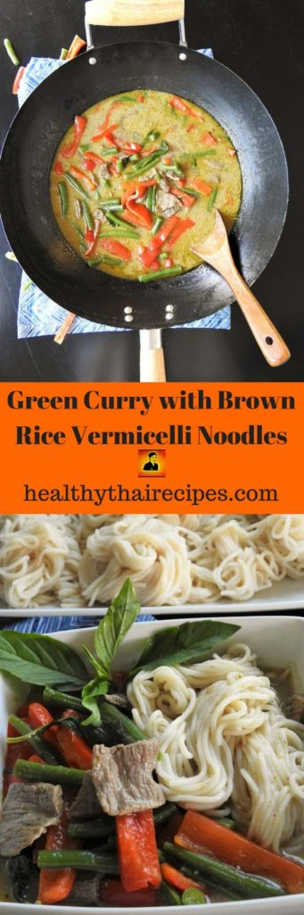 Thai Green Curry Noodles with Beef